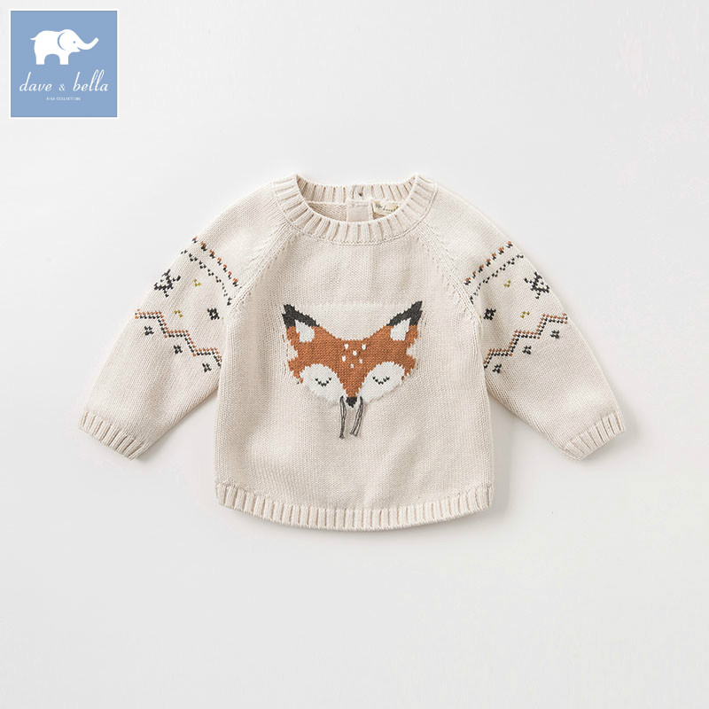 все цены на DB8471 dave bella autumn knitted sweater infant baby boys long sleeve pullover kids toddler tops children knitted sweater