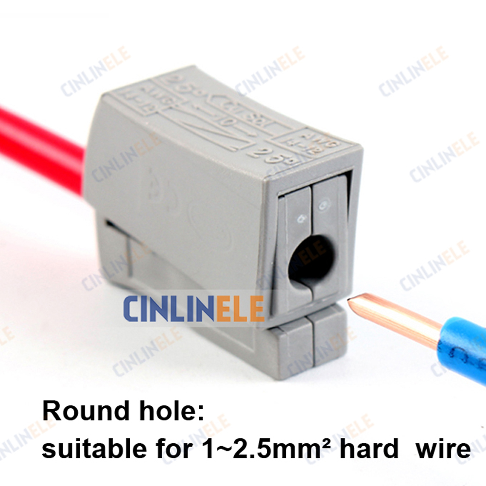 100PCS Single 1 pin cable wire connecting for lamp WAGO 224 101 ...