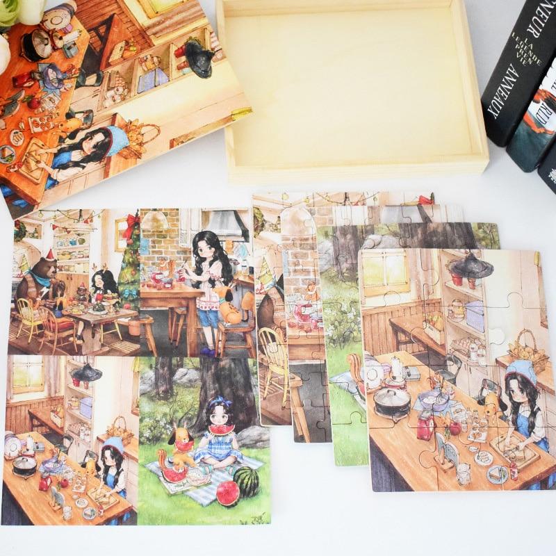 Crianças Brinquedo de Madeira Puzzle Tamanho Pequeno 15*15 centímetros Puzzles Brinquedo Educativo Jigsaw Puzzle de Madeira Para Crianças Bebê Dos Desenhos Animados - 3