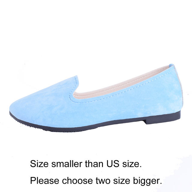 Plus Size Shoes Women Flats Candy Color Woman Loafers Spring Autumn Flat Shoes Women Zapatos Mujer Summer Shoes Size35-43 2