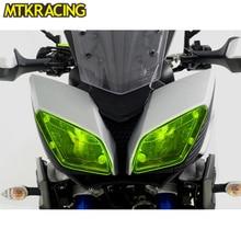 MTKRACING MT-09  Motorcycle Acrylic Headlight protection sheet Screen Cover For Yamaha mt-09 2016-2018