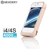 New 4000mAh External Power Bank Charger Pack Backup Battery Case For Iphone 4 4s With USB