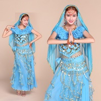 Bellyqueen India Dance Dress Suit Belly Dance Performance Clothing C S Small Pepper Rotating Pants