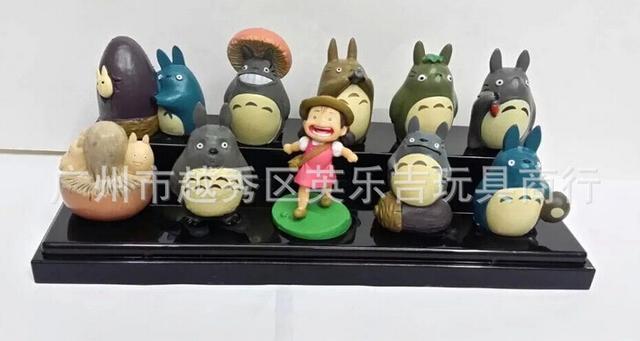 10pcs/set Miyazaki Hayao My Neighbor Totoro Mini Q Action Figures PVC brinquedos Collection Figures toys for christmas gift