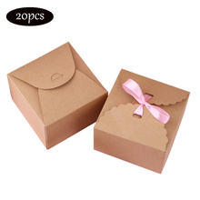 20pcs DlY Home Decoration candy box wedding gifts Retro Kraft paper boxes for packaging treat kids birthday small cupcake