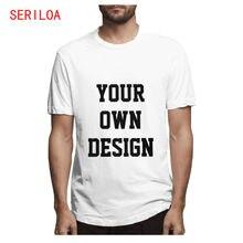 Индивидуальная Мужская футболка с принтом ваш собственный дизайн
