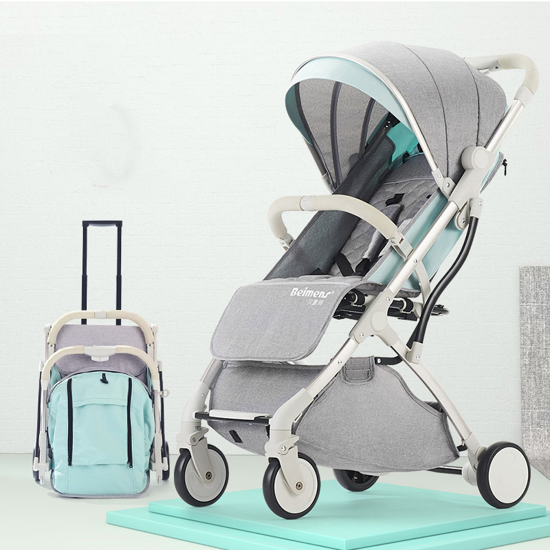 TIANRUI Folding Lightweight Baby Stroller For Newborn 2 In 1 Travel Baby Carriage Children Buggy