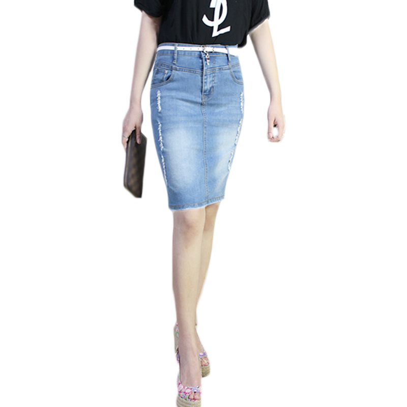 2016 New Fashion Sexy Classic European Mini Denim Skirt Plus Size Women Pencil Saias Femininas