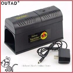 OUTDA eléctrica de alta tensión rata del ratón trampa del ratón Killer Electronic roedor ratón Zapper Electrocute Mana Kiore uso doméstico