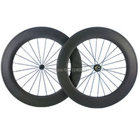 Popular Procuct 88mm Carbon Wheels Clincher Road Bicycle Carbon Wheelset Carbon Clincher Wheels With Free Shipping