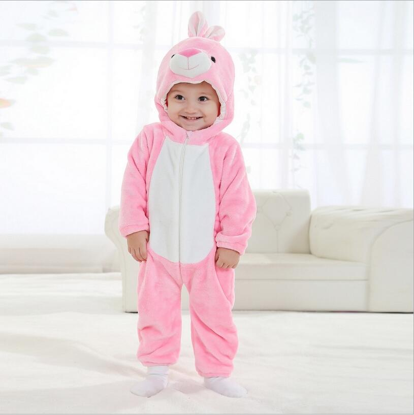 Newborn baby girl clothes romper unisex kids clothes cute pink rabbit Cartoon Jumpsuit ropa bebe Pajamas winter macacao bebe YJY 2017 new fashion cute rompers toddlers unisex baby clothes newborn baby overalls ropa bebes pajamas kids toddler clothes sr133