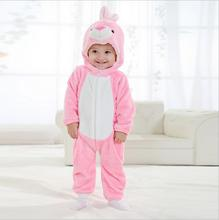Newborn baby girl clothes romper unisex kids clothes cute pink rabbit Cartoon Jumpsuit ropa bebe Pajamas winter macacao bebe YJY