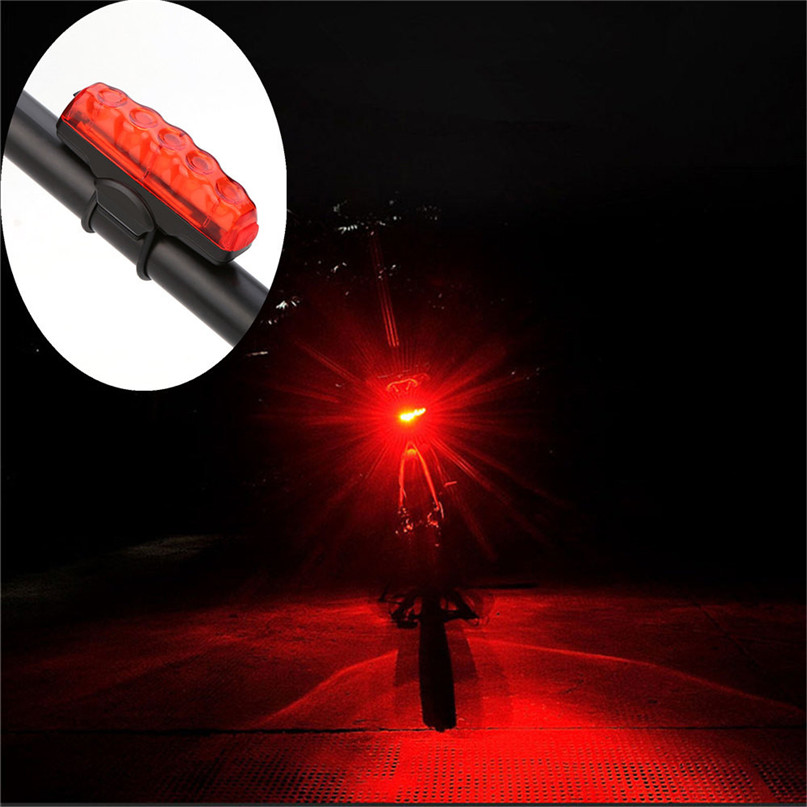 Waterproof COB High Bicycle light USB Rechargeable Bike Front Rear Tail Light Lamp Taillight With Mini USB cable #2g27 (8)