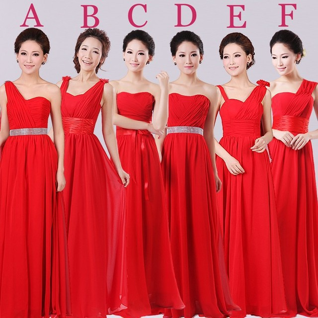 2017 Cheap Fashion Strapless Long A line Chiffon Bridesmaid Dresses ...