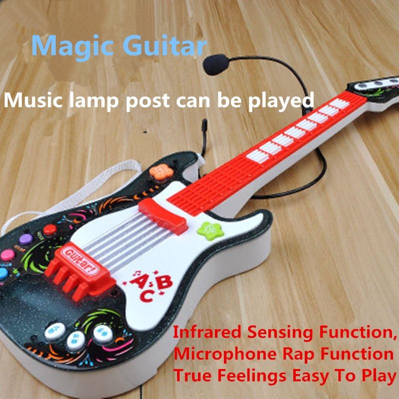 Hiqh qualité rien cordes musique électrique guitare magique enfants musique PVC Instruments jouets éducatifs pour enfants boîte cadeau J93 - 5