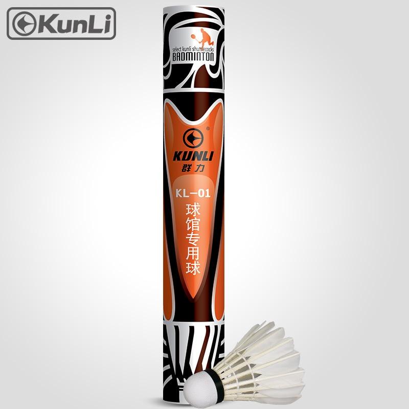 originalus Kunli prekės ženklo badmintono shuttlecock KL-01 klasė Ančių plunksnų šortai turnyro super patvariam plunksnų kamuoliui