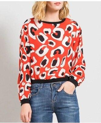 Lose seide T shirt pullover weibliche 2018 neue frühling silk druck große langärmelige T shirt - 2