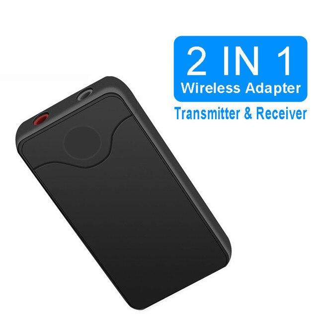 VIKEFON Bluetooth Receiver Transmitter 4.2 Wireless Bluetooth Audio Receiver 3.5mm Car Aux Adapter for Car TV Speaker Headphone