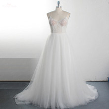 yiaibridal RSW1520 Transparent Body Neckline Wedding Dress