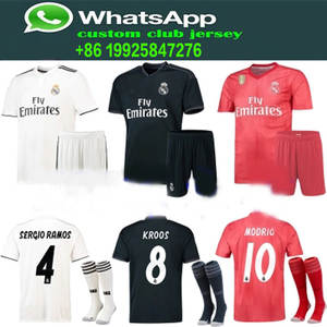 cb945cf35 FEERIJT 2018 2019 Real home football Ronaldo T-shirt Jersey