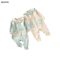 Milancel 2017 Newborn Baby Rompers Dot Print Long Sleeve Baby Boys Girls Clothes Cotton Baby Girls