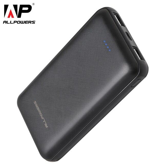 ALLPOWERS Più Nuovo 24000mAh Accumulatori e caricabatterie di riserva di Ricarica portatile Powerbank Con il tipo C Caricabatterie Dual USB di RICARICA VELOCE Per Xiaomi iphone