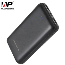 Allpowers mais novo 24000 mah power bank carregamento portátil powerbank com tipo c rápido carregador & duplo usb de carregamento para xiaomi iphone
