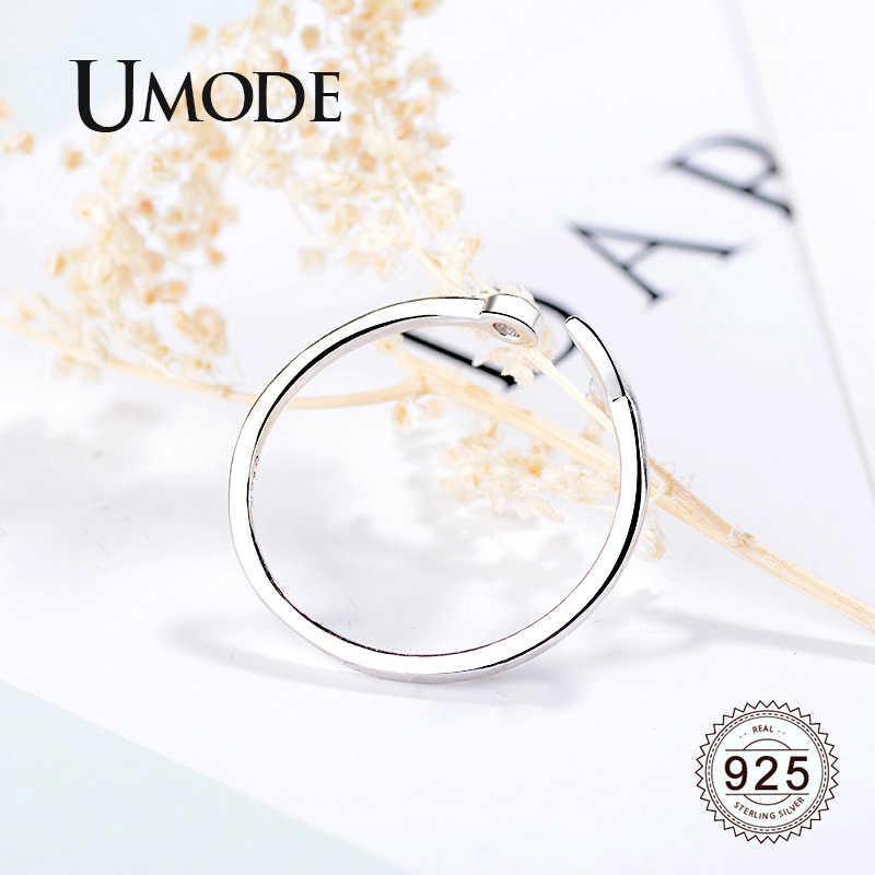 Umode Mermaid Tail Open 925 Sterling Zilveren Ringen Voor Vrouwen Eenvoudige Trendy Vinger Ring Verstelbare Sieraden Accessoires LR0700