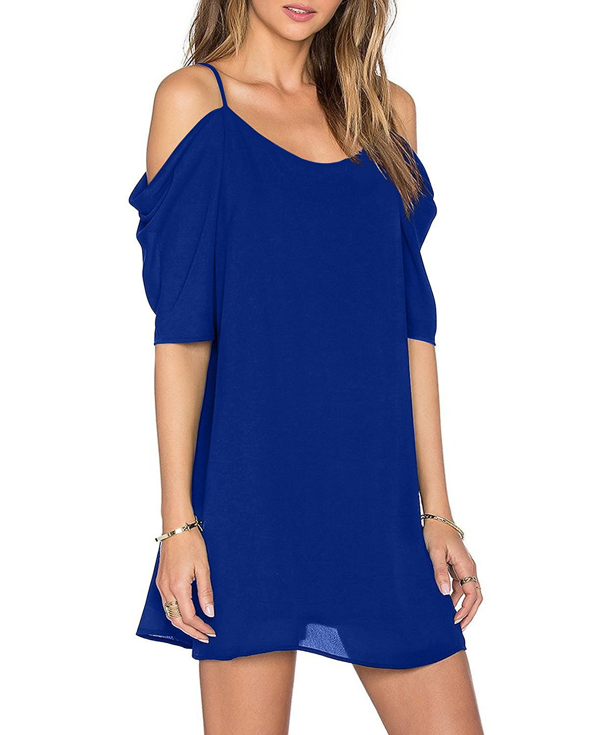 <font><b>6XL</b></font> <font><b>Plus</b></font> <font><b>Size</b></font> Women Fashion Loose Chiffon <font><b>Dresses</b></font> Female Solid Colors <font><b>Sexy</b></font> Off the Shoulder Beach <font><b>Dresses</b></font> Vestidos New image