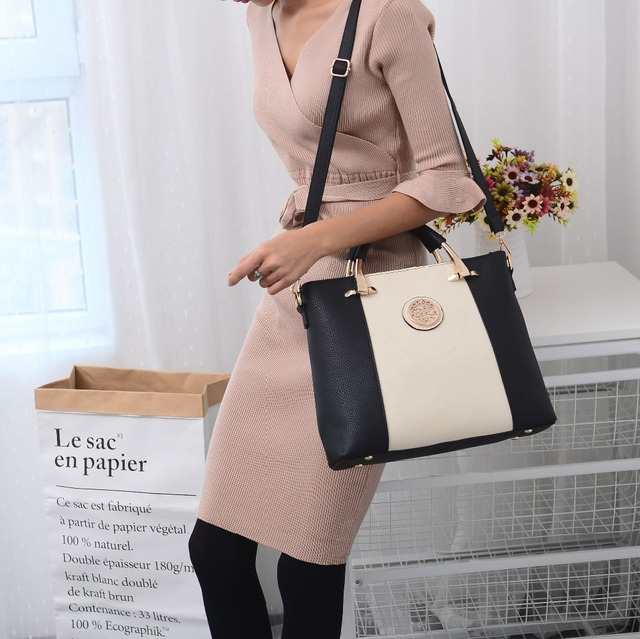 SUNNY SHOP 2017 New  2 Bags/Set European And American Style Women Bag  Brand Designer Women Shoulder Bags Handbag And Purse