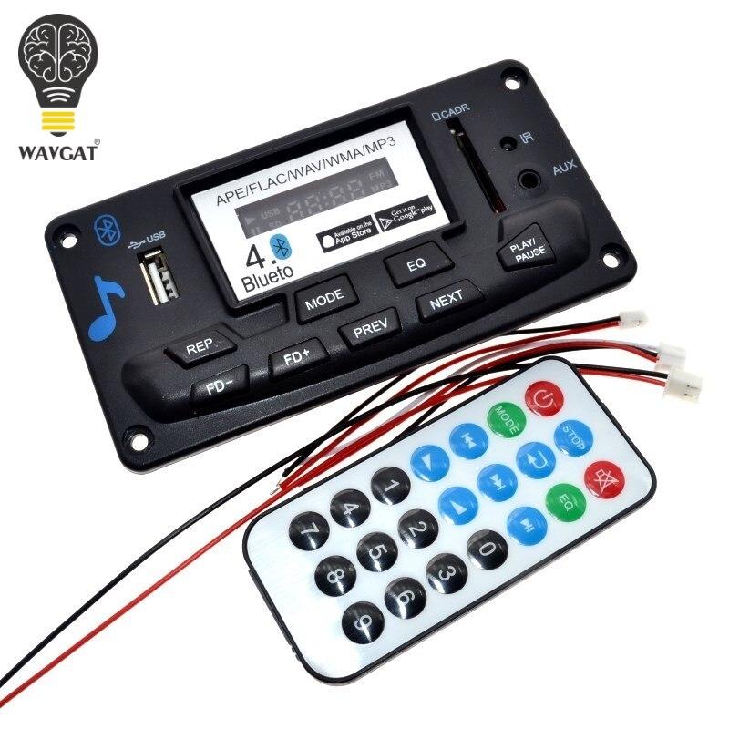 WAVGAT 4.0 Bluetooth MP3 Décodage Conseil Module DIY USB/SD/MMC APE FLAC WAV DAE Décodeur D'enregistrement Lecteur MP3 AUX FM Dossiers commutateur