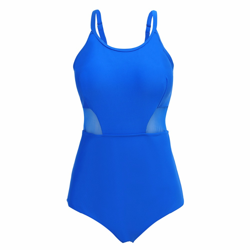 Perspective Plus size One Piece Sling Swimwear Women Swimsuit 2018 Swim Bathing Suit Female Bodysuit Bather Beach Wear Black 5XL plus size scalloped backless one piece swimsuit