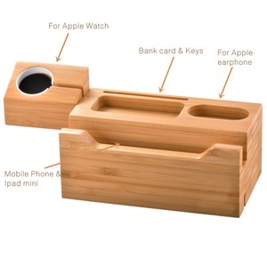 Image 3 - SZYSGSD Natural Wood Charger Holder Stand for iPhone XR XS Charger Dock for Apple watch Charging Station for Apple Airpods Pro