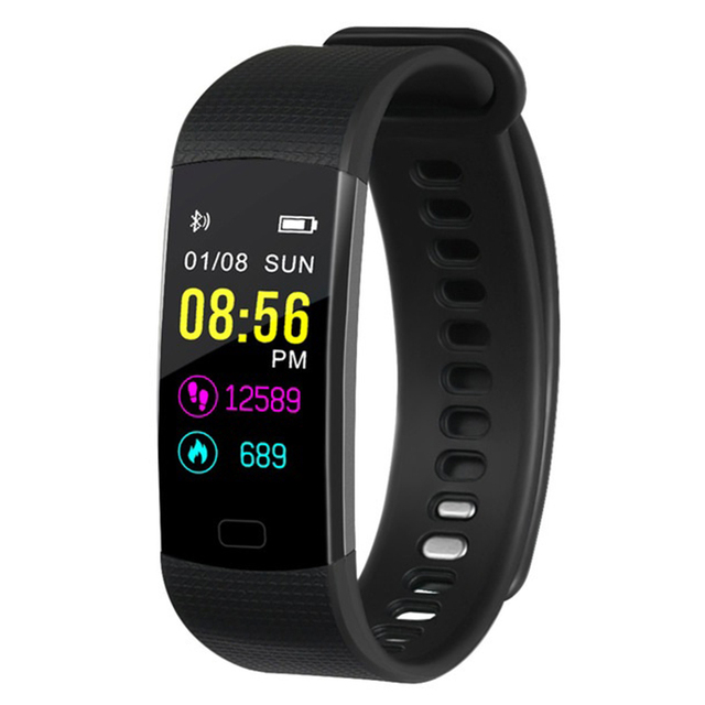 f0e7566811 US $14.76 40% OFF|Y5 Smart Band Watch Color Screen Wristband Heart Rate  Activity Fitness tracker Smart Electronics Bracelet VS fitbits Miband 3 -in  ...