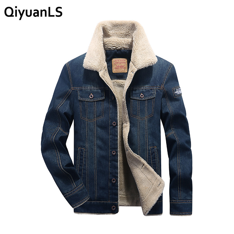 Men denim jacket coats M-4XL Fashion mens jeans jacket thick warm winter outwear male cowboy Comfortable Windbreak Jackets стоимость