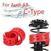 1pair Size-C Rear Shock SEBS Bumper Power Cushion Absorber Spring Buffer For Audi A8