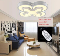 Factory direct sale HOT Modern led ceiling lights bedroom lamps 2/3/4heads for livingroom kitchen lamp balcony ceiling light