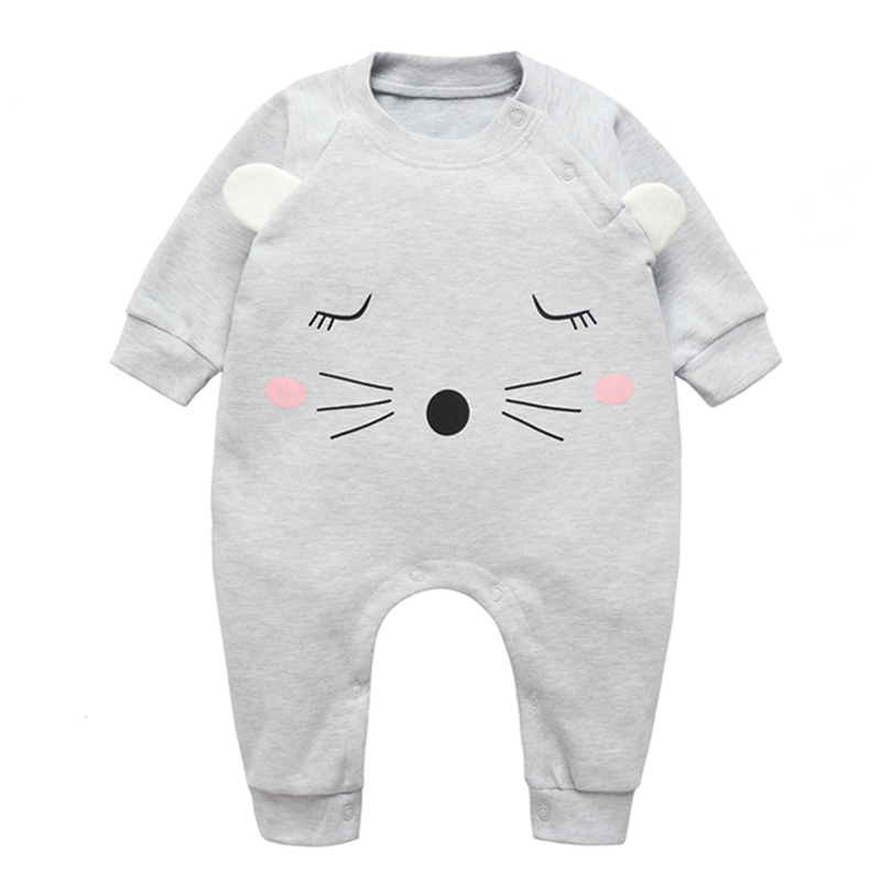 Baby Thick Rompers Boys Girls Long Jumpsuit Cotton Overall Clothing Autumn/Winter Warm Newborn Ropa Infant Cute OnePiece Clothes baby climb clothing newborn boys girls warm romper spring autumn winter baby cotton knit jumpsuits 0 18m long sleeves rompers