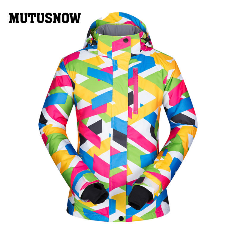MUTUSNOW Women Ski Jacket Snowboard Clothing Winter Coat Windproof Waterproof Super Warm Outdoor Sport Wear Hooded Jacket Female lurker shark skin soft shell v4 military tactical jacket men waterproof windproof warm coat camouflage hooded camo army clothing