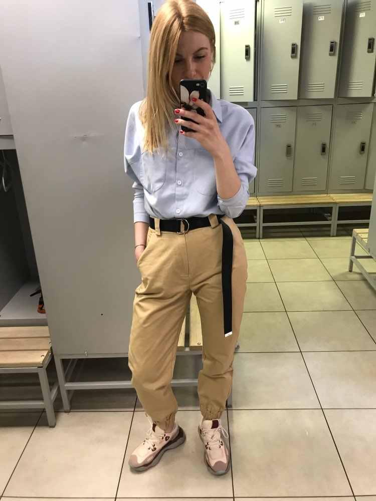 2019 Fashion Vrouwen Legergroen Broek Hoge Taille Broek Joggers Vrouwen Cardo Broek Vrouwen Enkellange Broek Vrouwelijke Broek