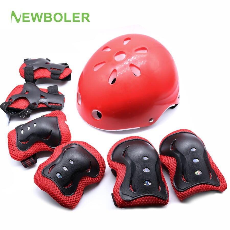 NEWBOLER Kinder Radfahren Skating Helm Ultralight kinder fahrradhelm fahrradhelm kind Größe S/M 3 Farben + 6 Schutzausrüstung