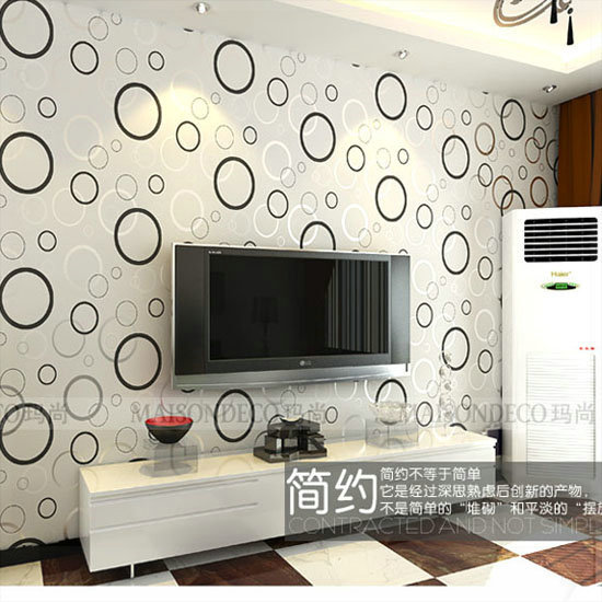 Pvc Wallpaper Living Room Tv Wall Background Wallpaper Classic Circle Tv Wallpaper Papel De Parede 3d Wall Panels Modern Celloph Wallpaper Photo Panel Pcpanel Glass Aliexpress
