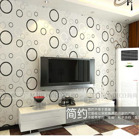 PVC wallpaper living room tv wall background wallpaper ...