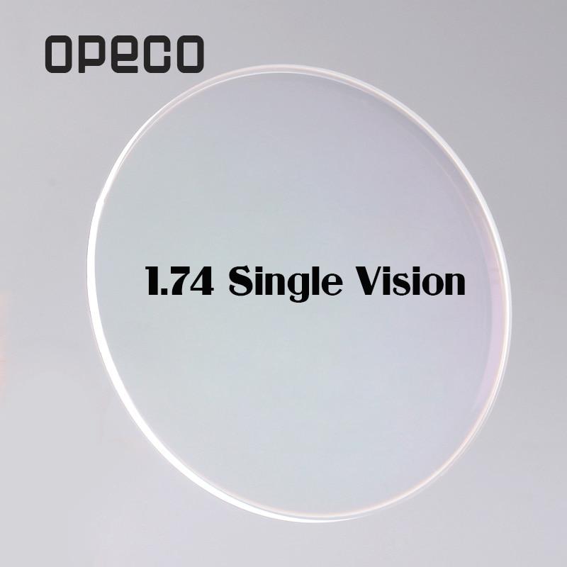 Здесь продается  Opeco 1.74 High Index Ultra Thin Single Vision Lenses Plastic Lenses Prescription Myopia Recipe Reading Optical Lenses   Одежда и аксессуары