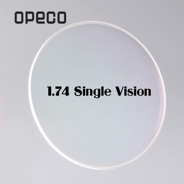 f9a4cdddc0 Opeco 1.74 High Index Ultra Thin Single Vision Lenses Plastic Lenses  Prescription Myopia Recipe Reading Optical