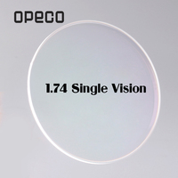 Opeco 1.74 High Index Ultra Thin Single Vision Lenses Plastic Lenses Prescription Myopia Recipe Reading Optical Lenses