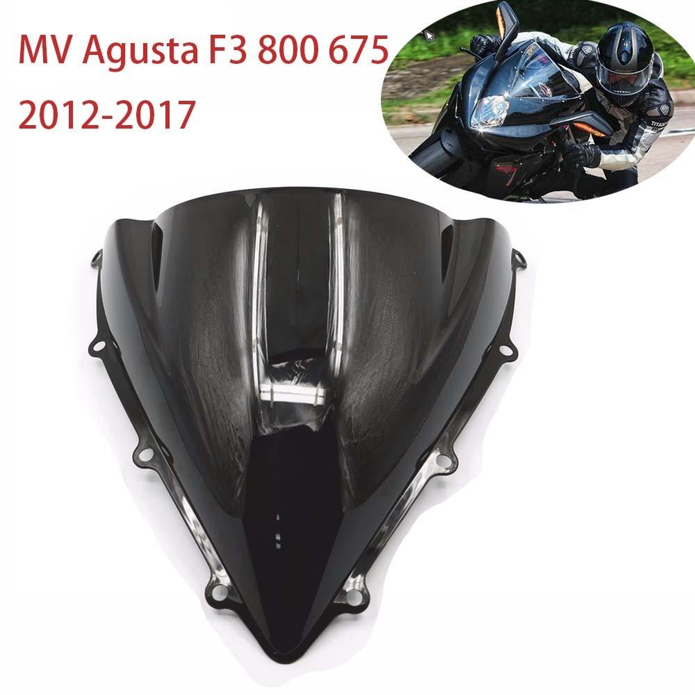 Windscreen Windshield For MV Agusta F3 800 675 2012-2017 13 Wind Screen Clear