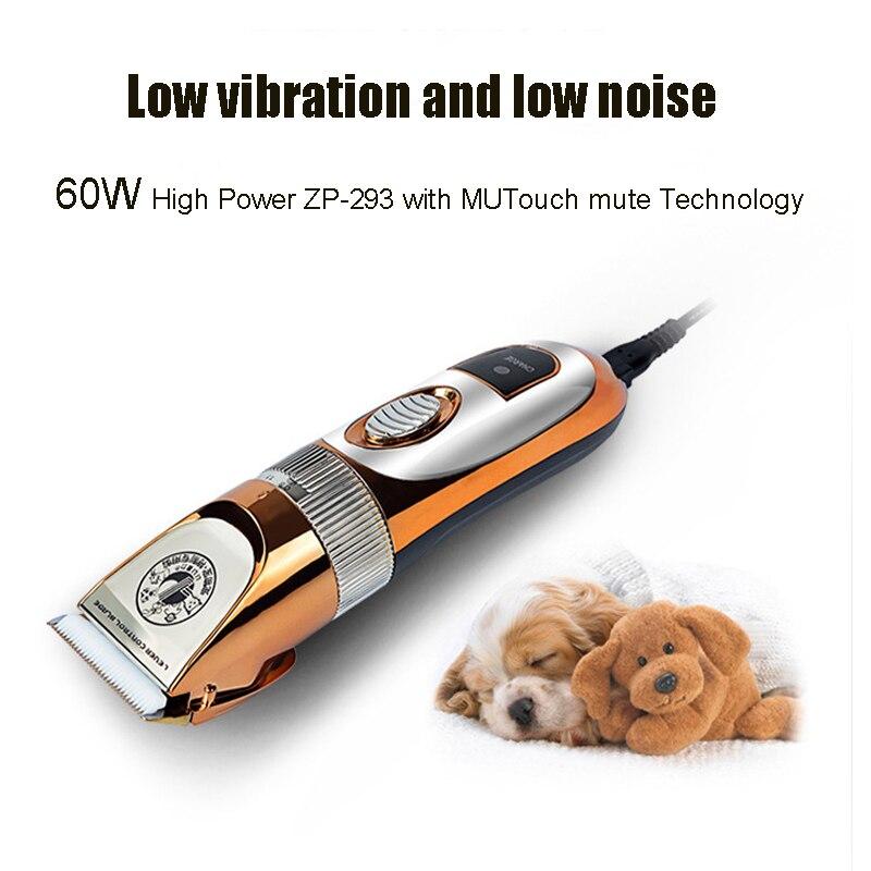 Professionnel électrique Pet chat chien tondeuse à cheveux 60 W 110 ~ 240 V tension chien coupe de cheveux Machine animaux toilettage tondeuses