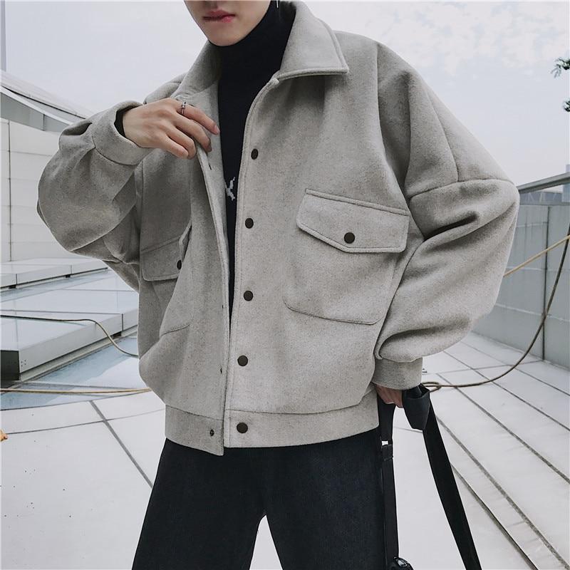 Occasionnel Black Mâle Light Mode Brown Japonais Manteau Hiver C0OZqX