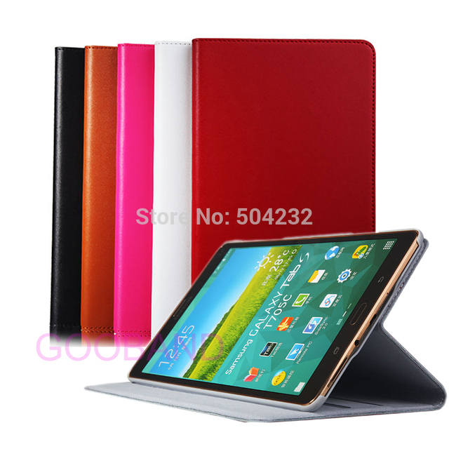 Genuine Real Leather Case Skin Stand Cover For Samsung galaxy Tab S 8.4 SM-T700